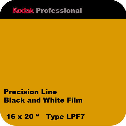 "Kodak Precision Line Black and White Film, 16 x 20"", Type LPF7"