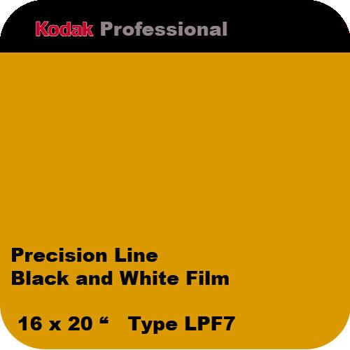 "Kodak Precision Line Black and White Film, 16 x 20"", Type LPF7"