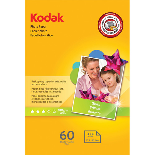 "Kodak Photo Paper Gloss - 4x6"" - 60 Sheets"