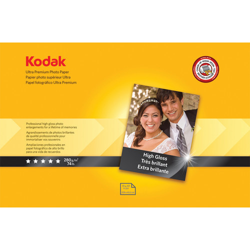 "Kodak Ultra Premium Photo Paper (High Gloss) - 11x17"" - 20 Sheets"