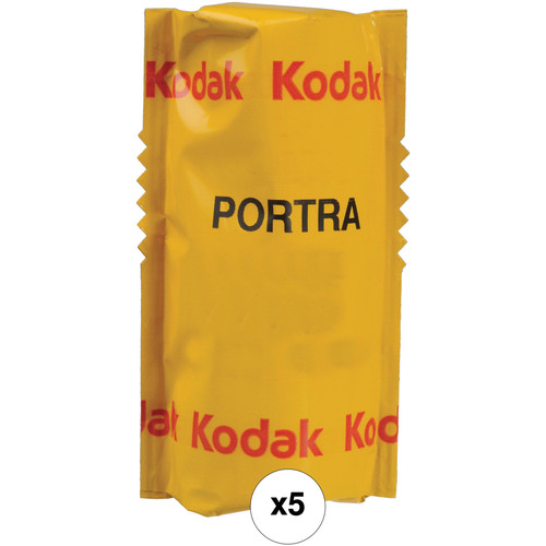 Kodak Professional Portra 160 Color Negative Film (120 Roll Film, 5-Pack)