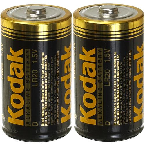 Kodak D 1.5v Alkaline Battery - 2 Pack