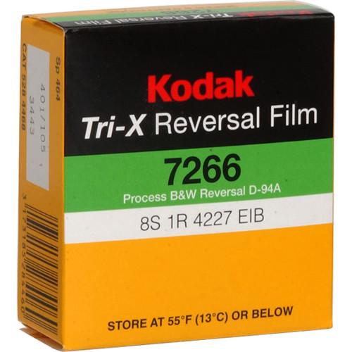 Kodak Tri-X Black-and-White Reversal Film #7266 (Super 8, 50' Roll)
