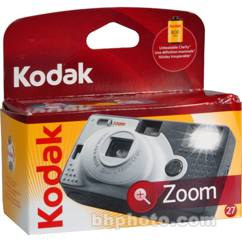 Kodak Zoom One-Time-Use Disposable Camera (ISO-800) with Flash