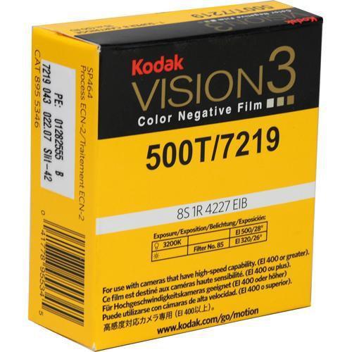 Kodak Vision3 500T 7219 16mm Color Negative Silent Movie Film (400')
