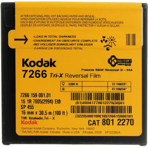 Kodak #7266 TXR455 16mm Tri-X (100' Roll)