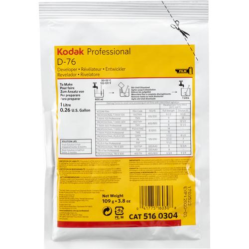 Kodak D-76 Developer (Powder) for Black and White Film
