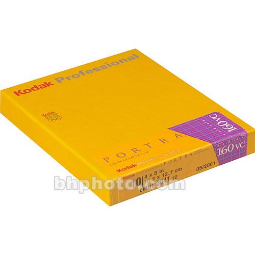 """Kodak 4x5"""" Portra 160VC Color Negative (Print) Film (Vivid Color, 10 Sheets)"""