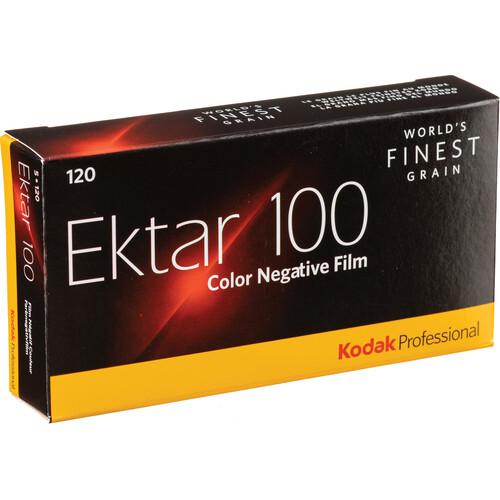 Kodak Professional Ektar 100 Color Negative Film (120 Roll Film, 5-Pack)