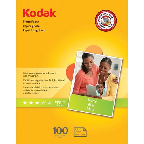 "Kodak Photo Paper Matte - 8.5x11"" - 100 Sheets"