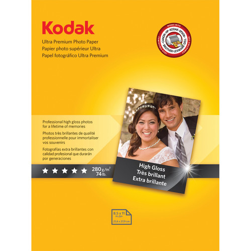 "Kodak Ultra Premium Photo Paper (High Gloss) - 8.5x11"" - 25 Sheets"