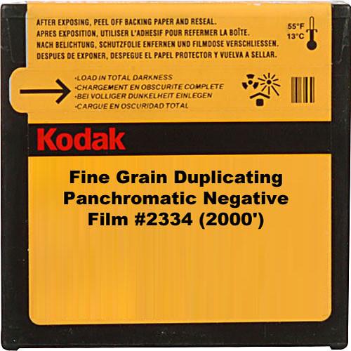Kodak 35mm Fine Grain Duplicating Panchromatic Black and White Negative Movie Film #2334 (2000')
