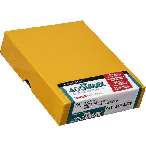 "Kodak TMY #4053 4 x 5"" (Improved) 400 Professional Black & White Negative (Print) Film (ISO-400) (50 Sheets)"