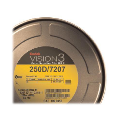 Kodak VISION3 250D Color Negative Film #7207 (16mm, 400' Roll)