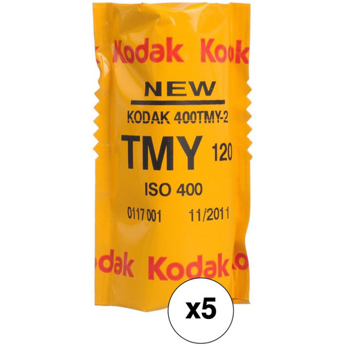 Kodak Professional T-Max 400 Black and White Negative Film (120 Roll Film, 5-Pack)