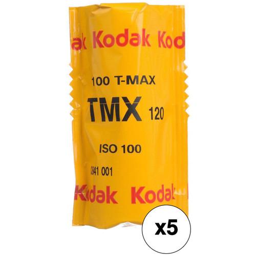 Kodak Professional T-Max 100 Black and White Negative Film (120 Roll Film, 5 Pack)
