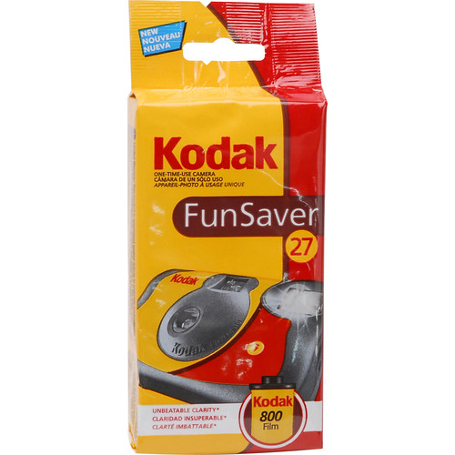 Kodak 35mm One-Time-Use Disposable Camera (ISO-800) with Flash