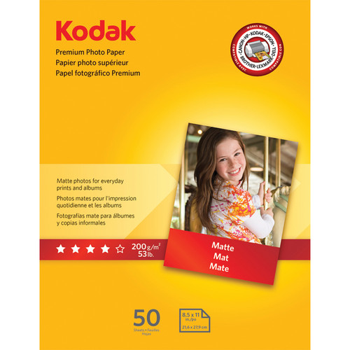 "Kodak Premium Photo Paper (Matte) - 8.5x11"" - 50 Sheets"