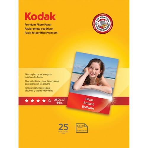 """Kodak Premium Photo Paper (Gloss) - 8.5x11"""" - 25 Sheets"""