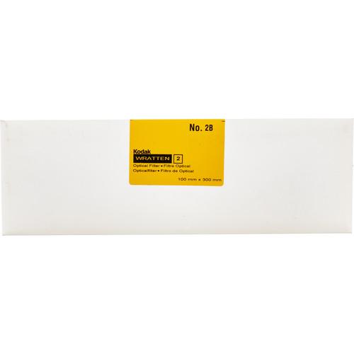 "Kodak 4 x 12"" #2B Pale Yellow Optical Wratten 2 Filter"