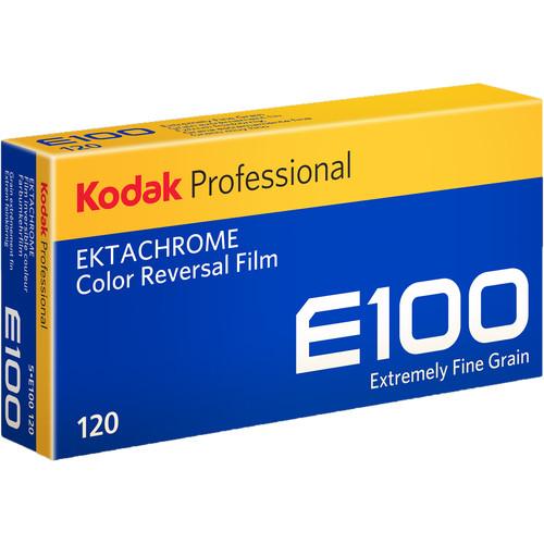 Kodak E100G 120 Ektachrome Color Slide Film (ISO-100) - Pro Pack 5 Rolls