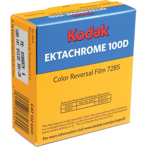 Kodak 7285 Ektachrome 100D 16mm Perforated Color Reversal Movie Film (100')