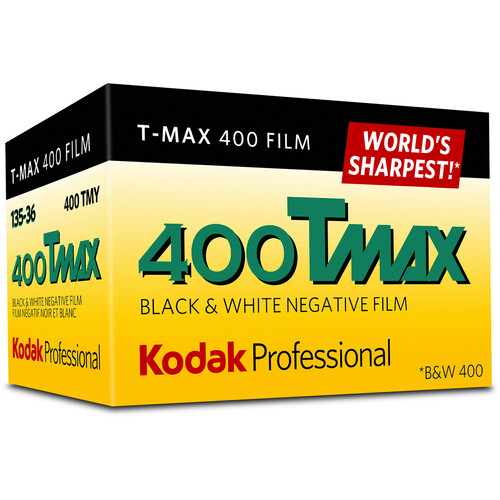 Kodak Professional T-Max 400 Black and White Negative Film (35mm Roll Film, 36 Exposures)