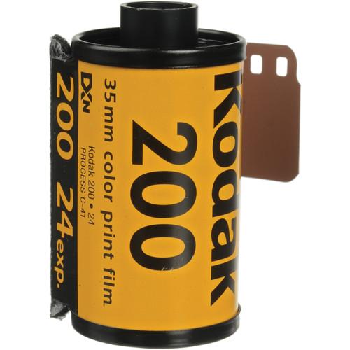 Kodak GOLD 200 Color Negative Film (35mm Roll Film, 24 Exposures)