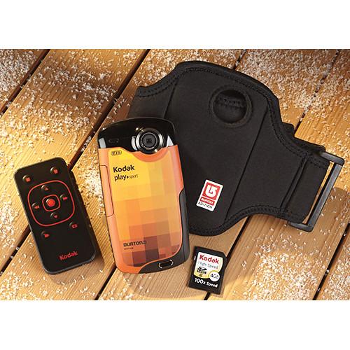 Kodak ZX3 PlaySport Video Camera Bundle (Burton Edition)