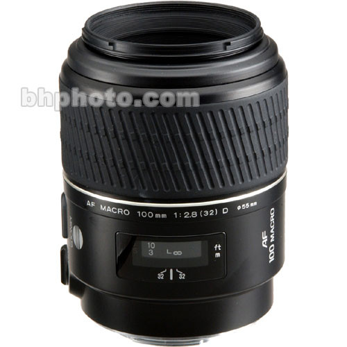 Konica Minolta Telephoto AF D 100mm f/2.8 Macro Autofocus Lens