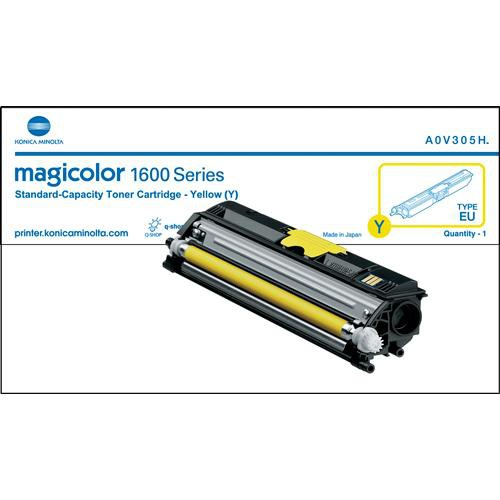 Konica A0V305F Yellow Toner Cartridge for magicolor 1600W Series Printers