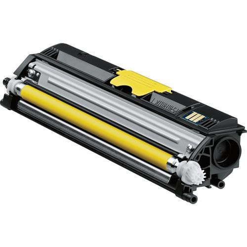 Konica A0V306F High-Capacity Yellow Toner Cartridge for magicolor 1600W Series Printers