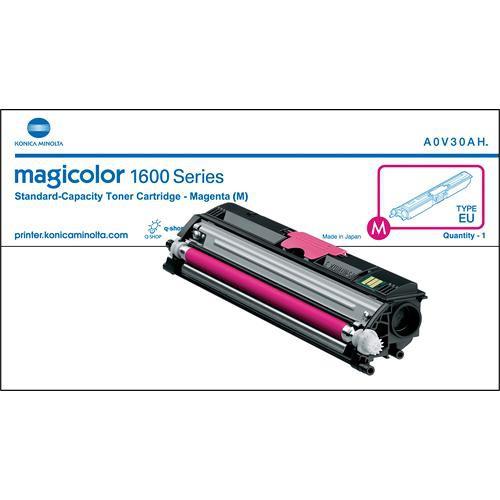 Konica A0V30AF Magenta Toner Cartridge for magicolor 1600W Series Printers
