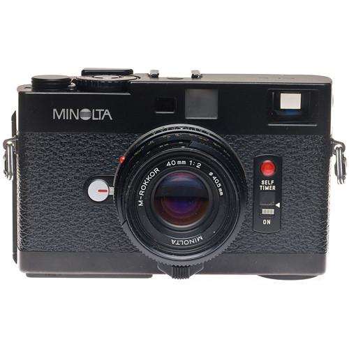 Konica Minolta CLE 35mm Manual Focus Rangefinder Camera with 40mm f/2 Rokkor M Lens