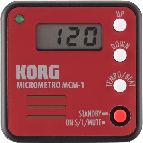 Korg microMetro MCM-1 Digital Metronome (Red)