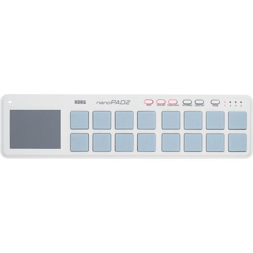 Korg nanoPAD2 - Slim-Line USB MIDI Controller (White)