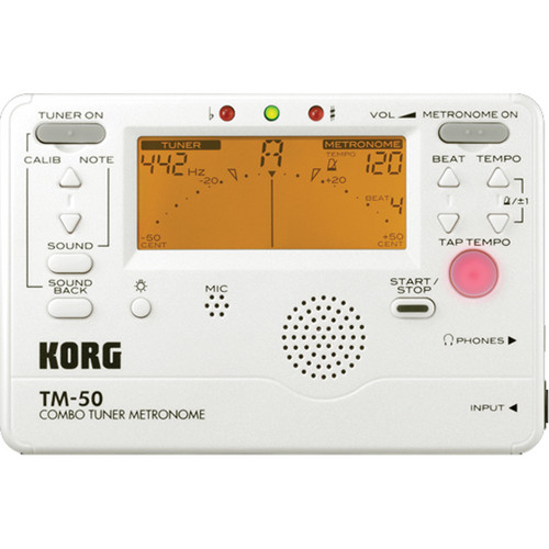 Korg TM-50 Combination Tuner & Metronome (White)