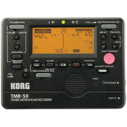 Korg TMR-50 Tuner Metronome Recorder (Black)