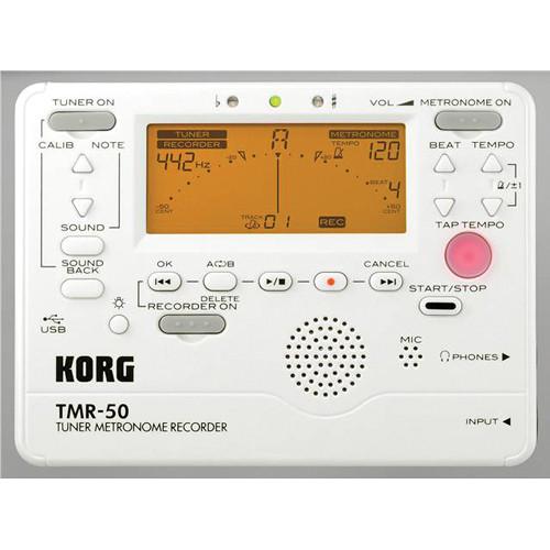 Korg TMR-50 Tuner Metronome Recorder (White)