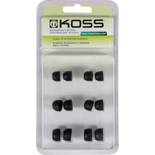 Koss Replacement Silicone In-Ear Cushion Pack (6 Pairs)