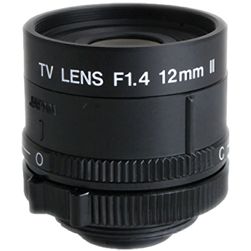 "Kowa LM12NCR 1/2"" Fixed Focus Manual Iris Lens (12mm)"