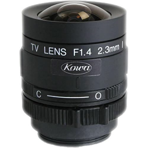 "Kowa LM2.3PBR 1/3"" Fixed Focus Manual Iris Lens (2.3mm)"