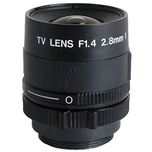 "Kowa LM3PBR 1/3"" Fixed Focus Manual Iris Lens (2.8mm)"