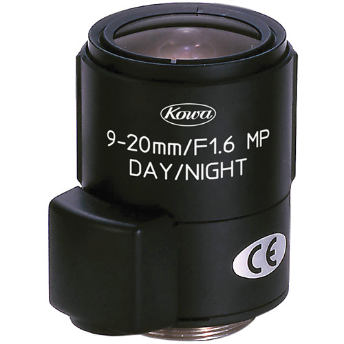 "Kowa LMVZ9020A-IR 1/2"" f/1.6 HD-Multi-Megapixel Lens for CCTV (9-20mm)"