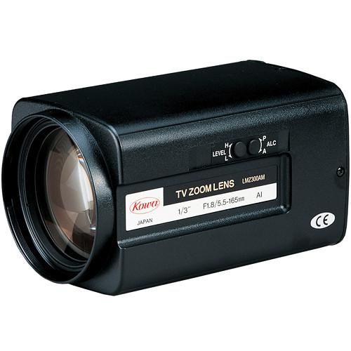 "Kowa LMZ300AMPDC 1/3"" Zoom DC Auto Iris Lens with Preset (5.5 to 165mm)"