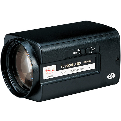 "Kowa LMZ300AMP 1/3"" Zoom Video Auto Iris Lens with Preset (5.5 to 165mm)"