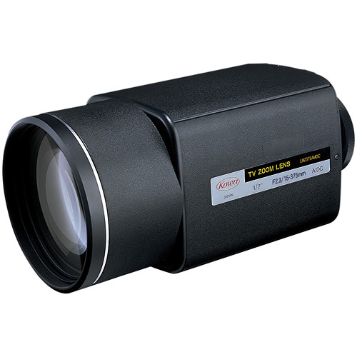 """Kowa LMZ375AMPOR-XD 1/2"""" Zoom Lens with Manual Override and Presets (15 to 375mm)"""