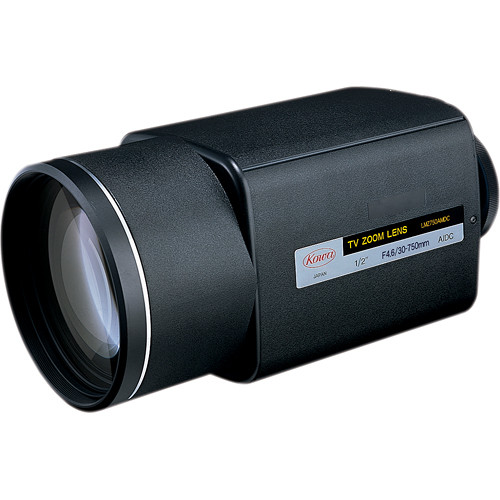 "Kowa 1/2"" Zoom Lens with Manual Preset Over-ride (30 to 750mm)"