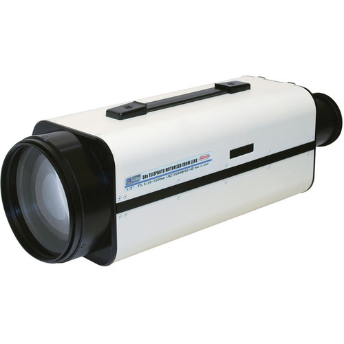 """Kowa 1/2"""" 50x Super Zoom Motorized Lens with Presets (20 to 1000mm, White/Black)"""
