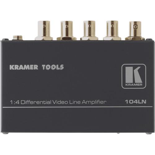 Kramer 104LN 1x4 Composite Video Line Amplifier, Differential Input